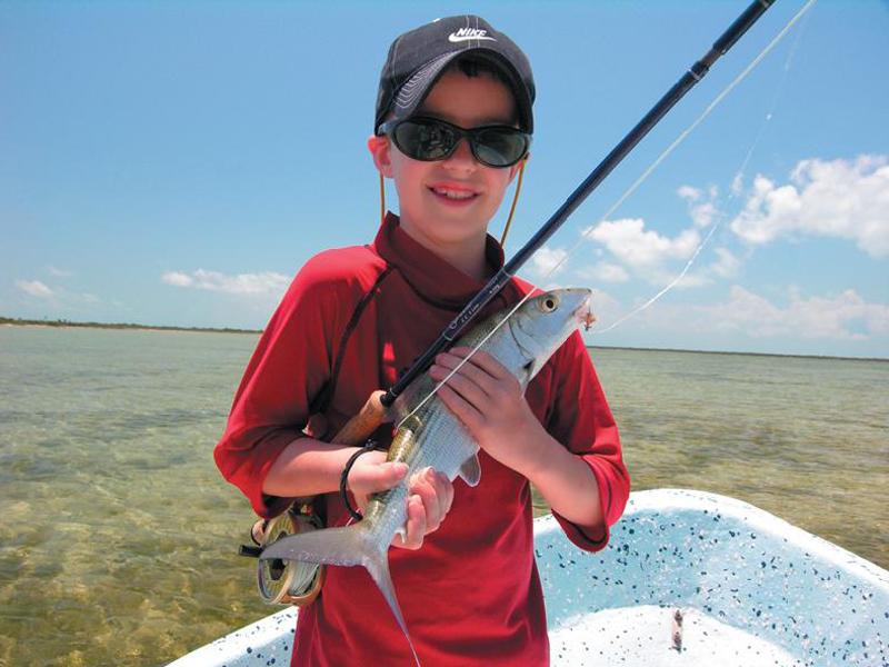 A bonefish made this young pescador\'s day