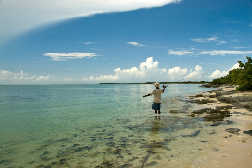 Fly-fishing in The Bahamas