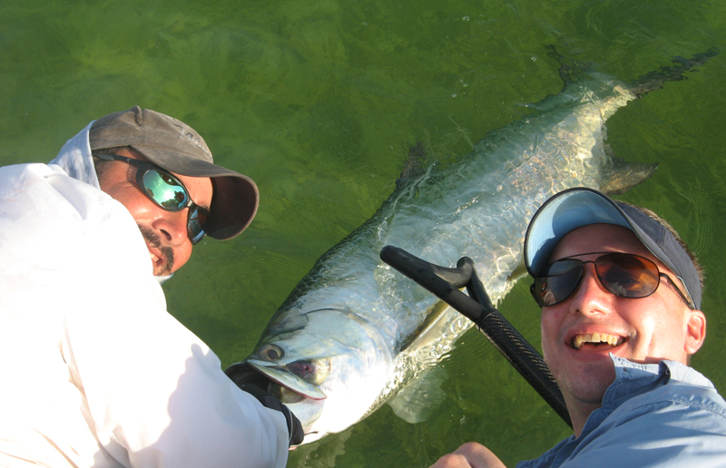 Big tarpon taken while fishing with Double Haul Charters