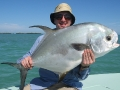 A permit taken while fishing with Double Haul Charters