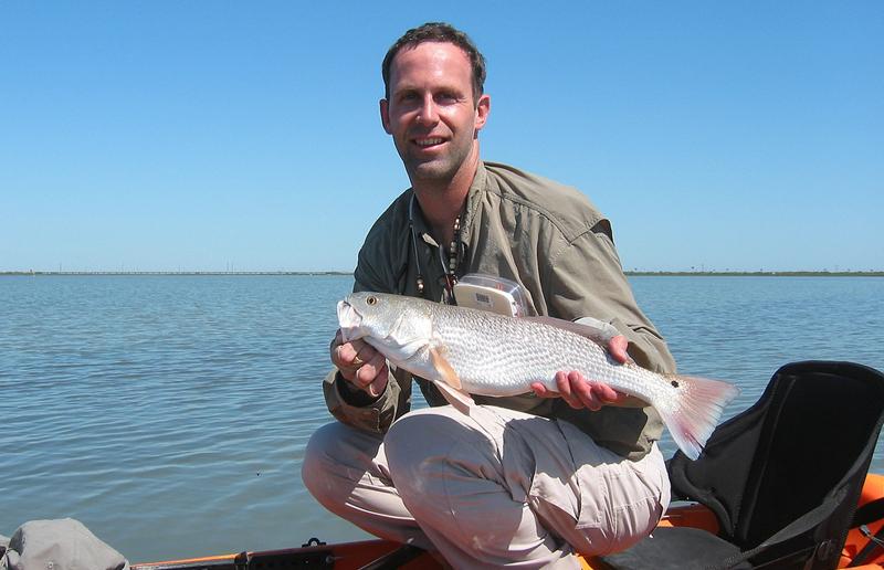Redfish from the kayak: loads of fun