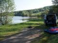 Float tubes & Fishingmobile at Lac du Majonenc