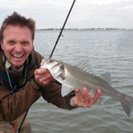 Bass fishing in Chichester Harbour