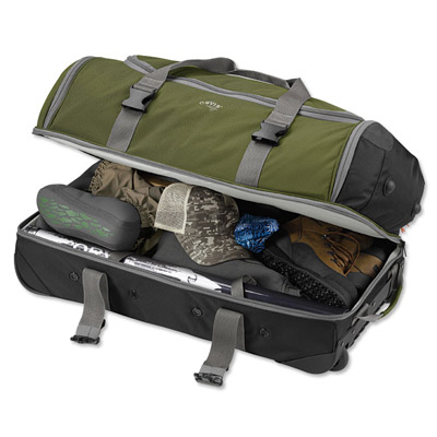 Fishipedia Top 5: Fishing Travel Bags - Orvis Safe Passage Rolling Vented Duffle