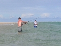 Surf fishing, Mozambique