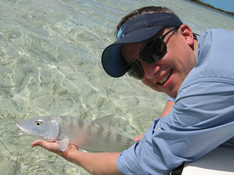 Middle Bight, Andros: a bonefish heads home