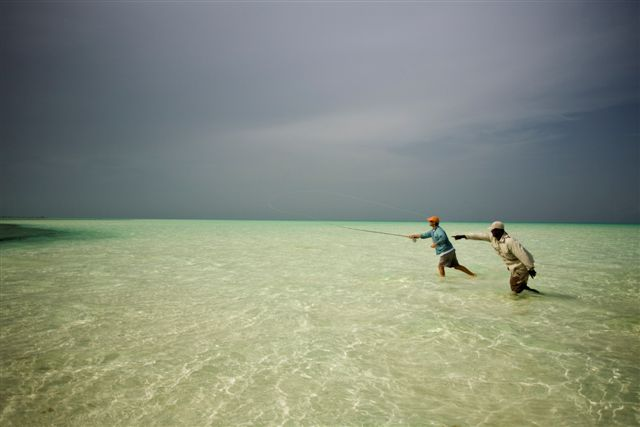 Bonefishing off Andros Island, Bahamas
