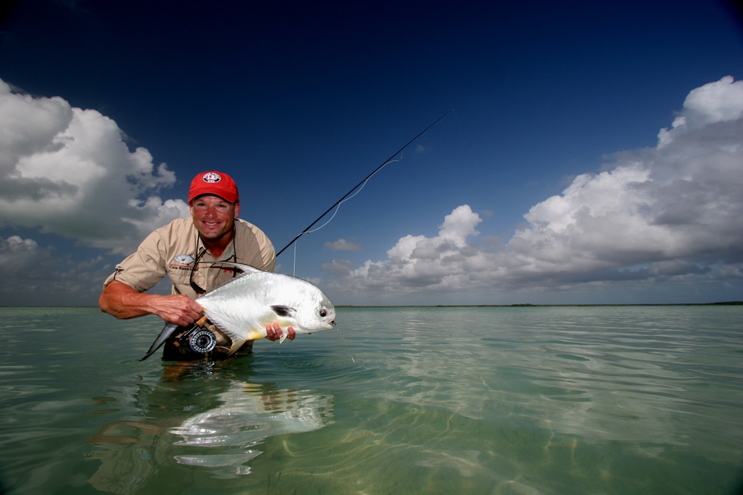 Permit fishing in Ascension Bay, Mexico