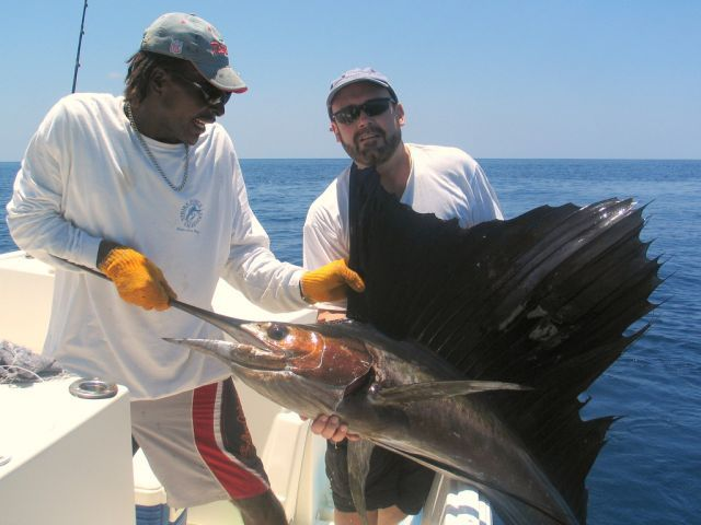 Sailfish success, Pacific Coast