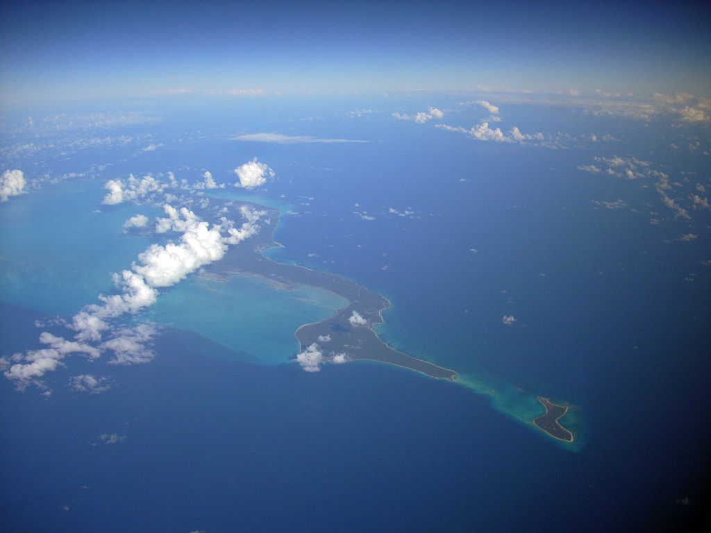 The Bight of Acklins, as seen from the air