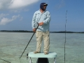 Captain Bob poling the flats