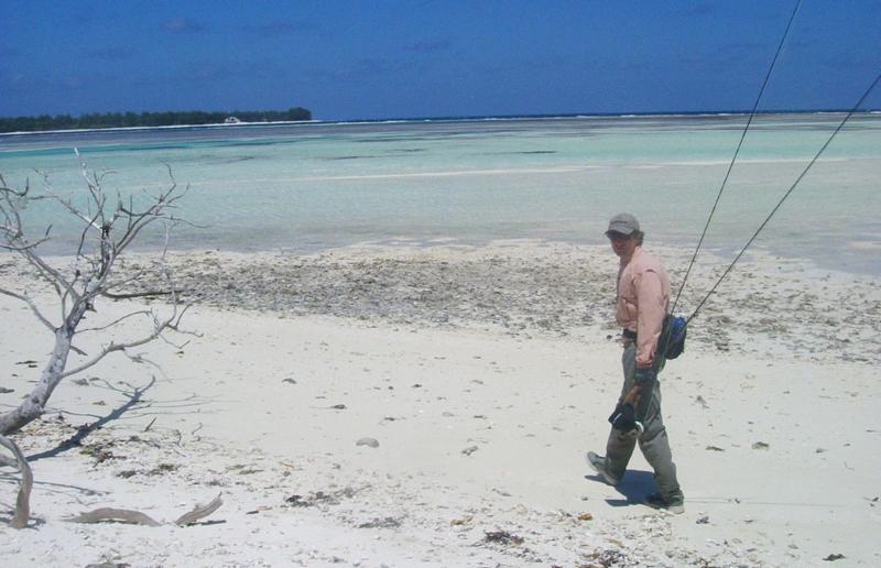 Flats fishing in The Seychelles