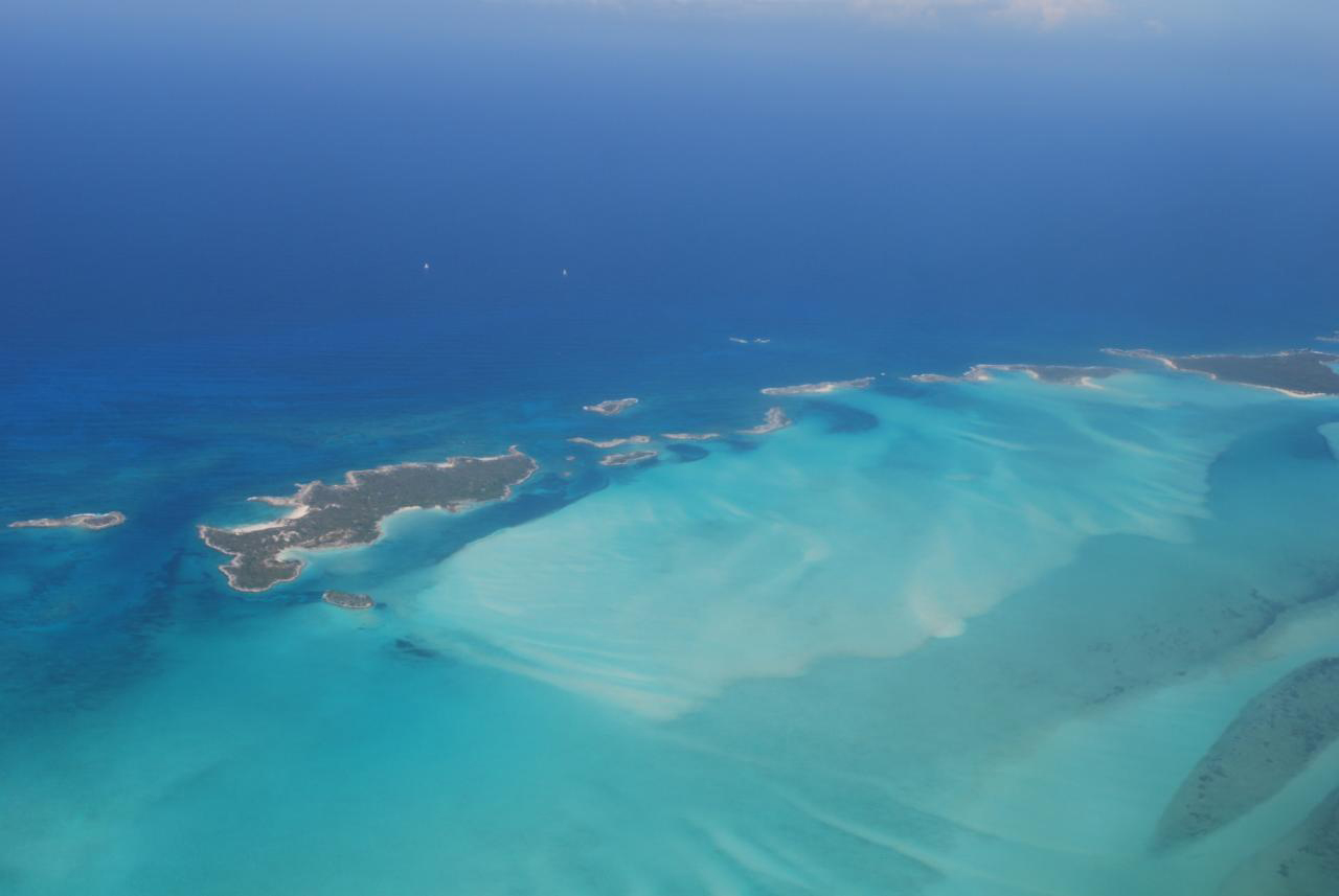 The Exumas from the air: bonefish heaven