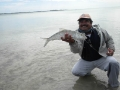 Captain Victor with a big bonefish